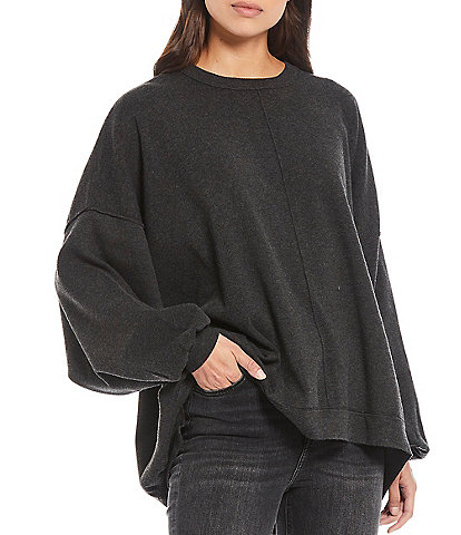 Free People Uptown Slouchy Oversized Drop Shoulder Full Sleeve Pullover Sweater