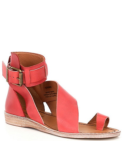 Free People Vale Leather Asymmetrical Toe Loop Boot Sandals
