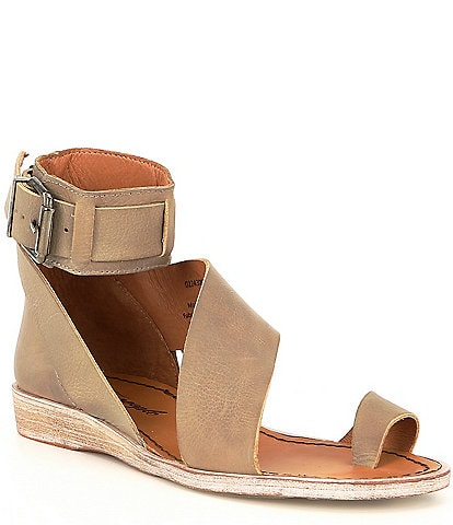 Free People Vale Leather Asymmetrical Boot Sandals