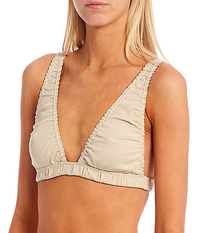 Free People Wait And See Ribbed Unlined Square Back Bralette