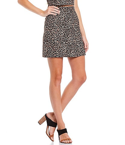 French Connection Cheetah Print Whisper Skirt