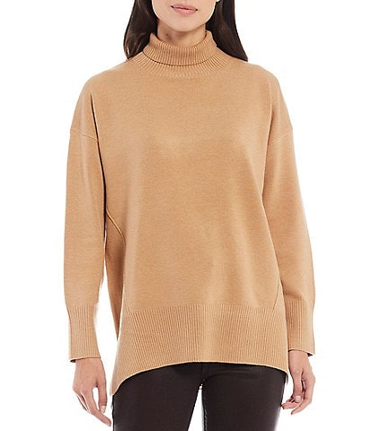 French Connection Babysoft Mock Neck Oversized Sweater