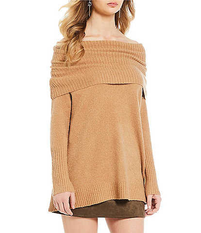 French Connection Flossy Off-the-Shoulder Wool Blend Sweater