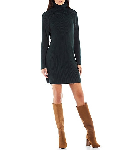 French Connection Katerina Turtleneck Long Sleeve Knit Sweater Dress
