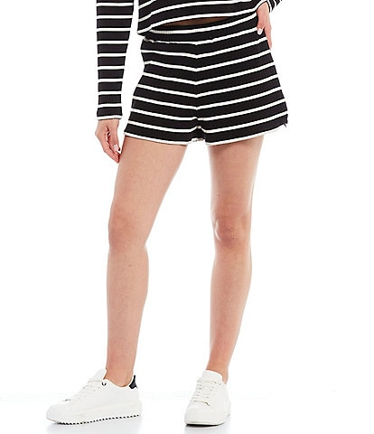 French Connection Tommy Stripe Rib Knit Shorts