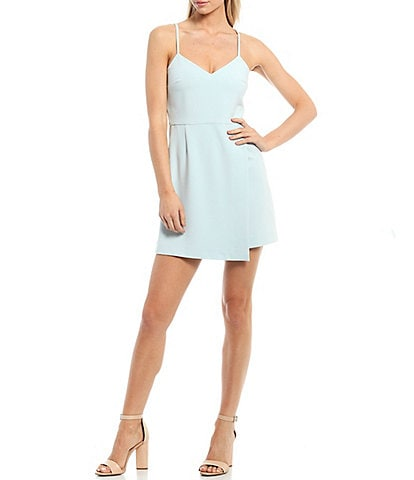French Connection Whisper Envelope Skirt Sleeveless Mini Dress