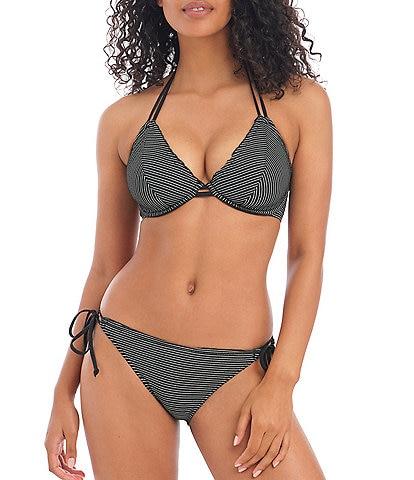 Freya Ocean Calling Underwire Halter Bikini Swim Top & Side Tie Bikini Brief Swim Bottom
