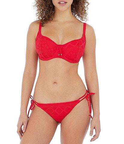Freya Sundance Underwire Bra Sized Sweetheart Bikini Swim Top & Side Tie Bikini Brief Swim Bottom