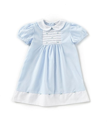 Friedknit Creations Baby Girls 12-24 Months Rosette Pintuck Dress
