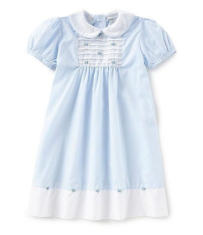 Friedknit Creations Little Girls 2T-4T Rosette Pintuck Dress