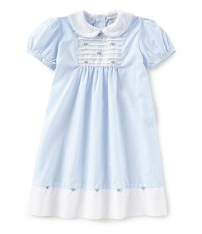 Friedknit Creations Little Girls 2T-4T Rosette Pintuck Dress