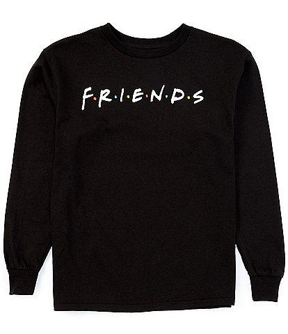 Friends Big Girls 7-16 Long-Sleeve Logo Tee
