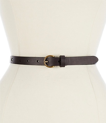 Frye 0.75#double; Embroidered Leather Jean Belt