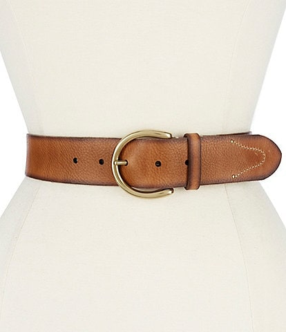 Frye 1.5#double; Campus Leather Classic Belt