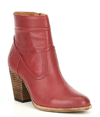 Frye Essa Leather Block Heel Booties