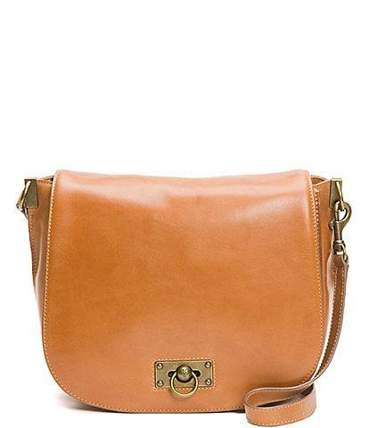 Frye Farrah Flap Antiqued Leather Shoulder Bag