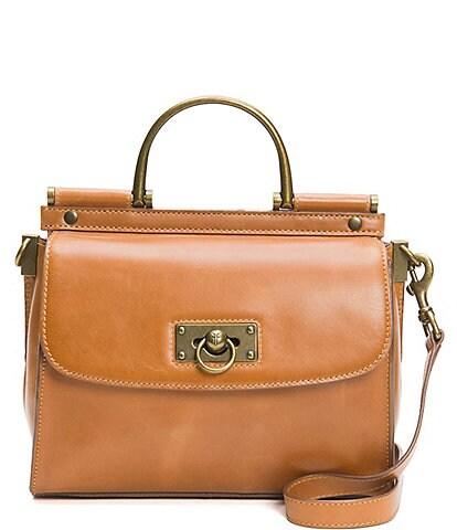 Frye Farrah Top Handle Leather Satchel Bag