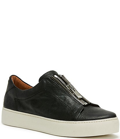 Frye Lena Front Zip Leather Sneakers