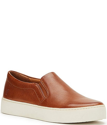 Frye Lena Leather Slip-On Sneakers