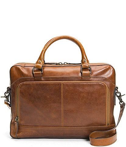 Frye Logan Zip Leather Briefcase