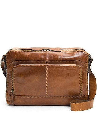 Frye Logan Zip Leather Messenger Bag