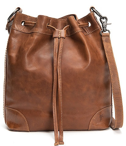 Frye Melissa Drawstring Leather Hobo Bag