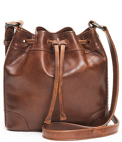 Frye Melissa Leather Drawstring Bucket Bag