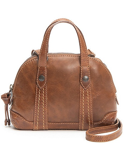 Frye Melissa Mini Dome Leather Crossbody Bag