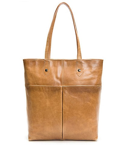 Frye Melissa Simple Italian Leather Zip Tote Bag