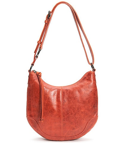 Frye Melissa Small Scoop Leather Zip Hobo Bag