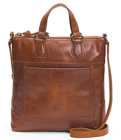 Frye Melissa Small Tote Distressed Leather Crossbody Bag