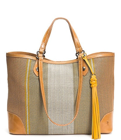 Frye Melissa Striped Shopper Tote Bag