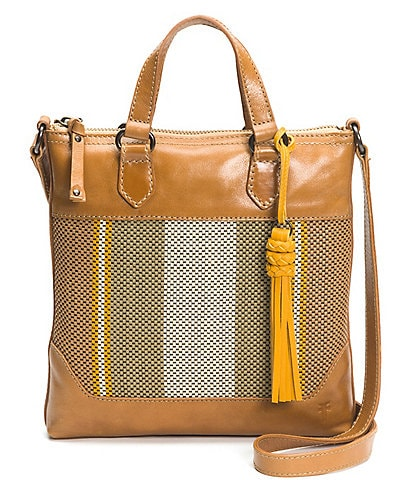 Frye Melissa Striped Small Woven Tote Bag