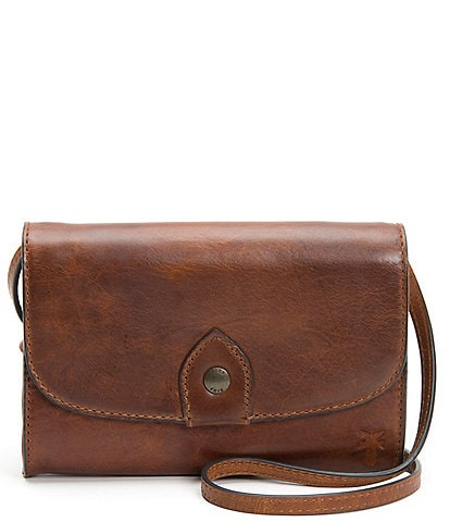 Frye Melissa Leather Wallet Crossbody Bag
