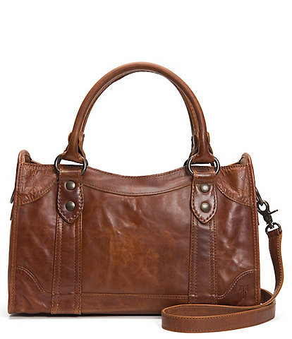 Frye Melissa Washed Leather Satchel Bag
