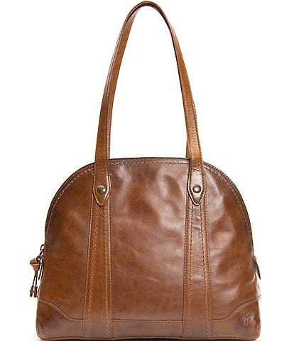 Frye Melissa Zip Domed Leather Satchel Bag