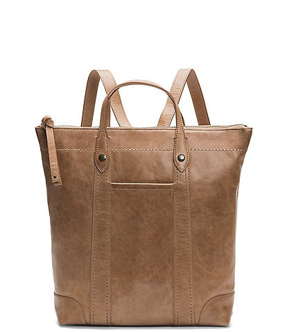 Frye Melissa Zip Leather Zip Tote Backpack
