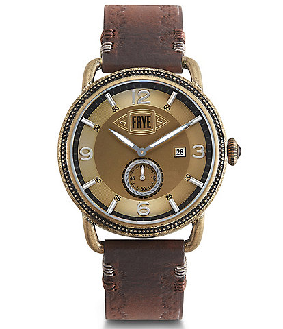 Frye Men's Weston Mahogany Leather Watch