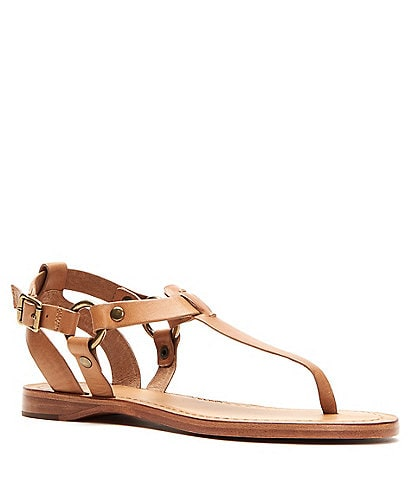 1fec762cae23 Frye Rachel Ring T Strap Leather Sandals