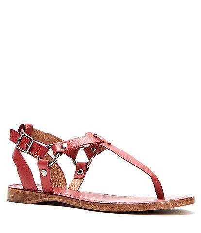 Frye Rachel Ring T Strap Leather Sandals