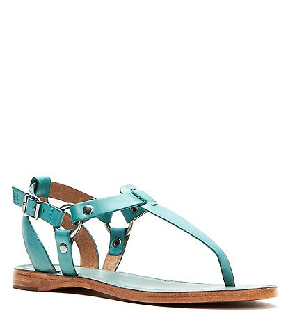 Frye Rachel Ring T Strap Leather Sandals