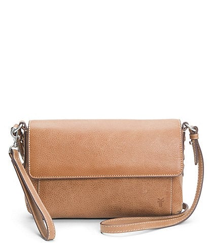 Frye Reed Flap Leather Snap Crossbody Bag