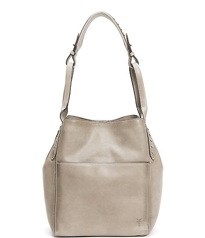 Frye Reed Magnetic Snap Leather Hobo Bag