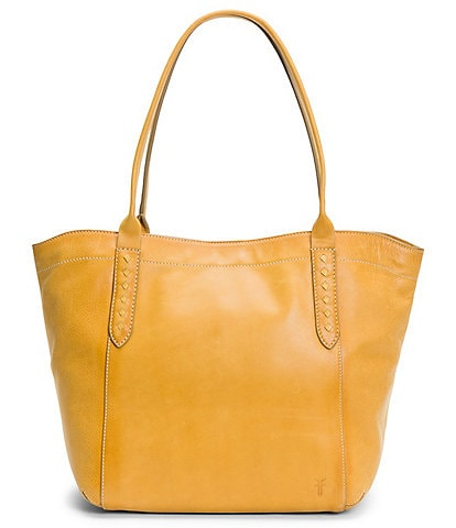 Frye Reed Shoulder Leather Bridle Riding Stitch Tote Bag