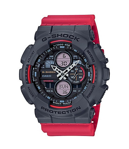 G-Shock Ana Digi Black & Red Shock Resistant Watch