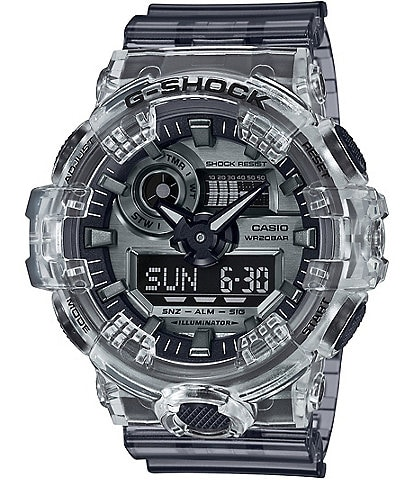 G-Shock Ana Digi Clear Skeleton Shock Resistant Watch