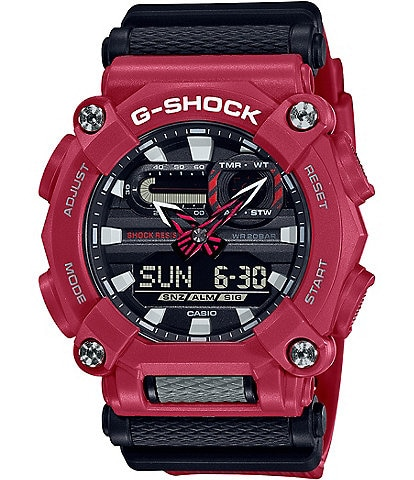 G-Shock Ana Digi Red Resin Shock Resistant Watch