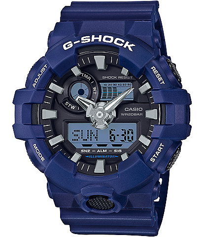 G-Shock Blue & White Ana-Digi Resin-Strap Watch