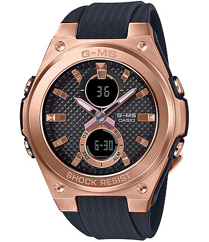 G-Shock Ana-Digi Rose Gold and Black Silicone Shock Resistant Watch