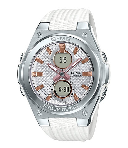 G-Shock Ana-Digi Silver and White Shock Resistant Watch
